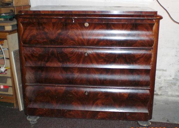Mahagoni holz möbel  3-schübige-Biedermeierkommode, Mahagoni, um 1850 | Restaurator ...